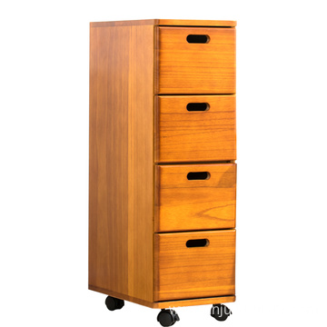 Chinese style household wooden drawer cabinet furniture living room narrow size solid wood tall thin storage cabinets